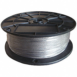 Cable,1/4 in.,500 ft.,19 x 7,SS