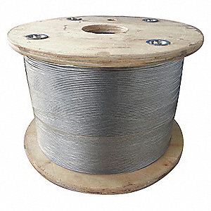 Cable,1/8 in.,25 ft.,1 x 19,Steel