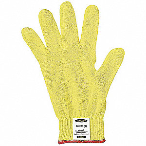 Cut Resistant Gloves,Yellow,Knit,9,PR