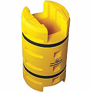 "Yellow Column Protector, Fits Column Size 8"", Fits Column Shape Round or Square"