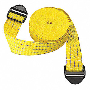 "Yellow Parking Column Protector Straps 2"" Overall Width, 100"" Overall Length"