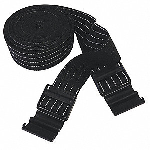 "Black Parking Column Protector Straps 2"" Overall Width, 100"" Overall Length"