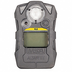 Gas Detector, Gray, H2S, 0 to 100 ppm