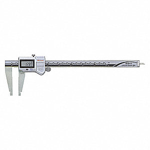 "Digital Caliper 0-8""/0-200mm Range, 0.01""/0.10mm Resolution, Stainless Steel"