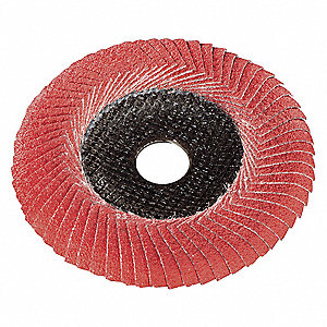 "5"" Flap Disc, Convex, 7/8"" Mounting Hole, Medium, 60 Grit Ceramic, 1 EA"