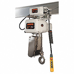 Elec. Chain Hoist Motorized,10ft.,15fpm