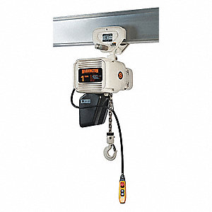 H4 Electric Chain Hoist, 500 lb. Load Capacity, 460V, 10 ft. Hoist Lift, 15/2.5 fpm