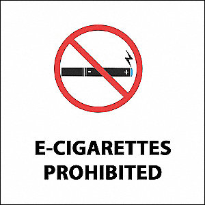 No E-Cigarette Smoking Decal,PK2