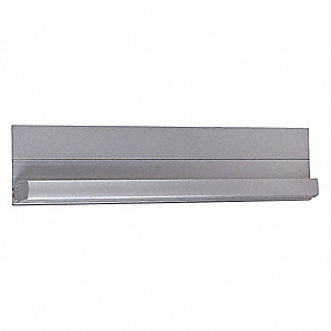 "180° Continuous Hinge With Holes, Mill Aluminum, Door Leaf: 83"" x 1-3/8"" W"