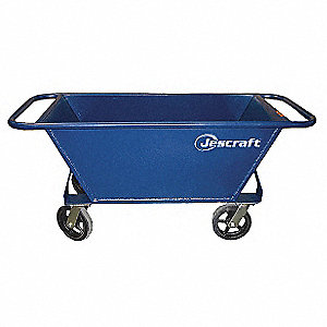 Rolling Mortar Pan,7.2 cu. ft.,Steel