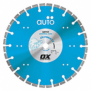"7"" Wet/Dry Diamond Saw Blade, Segmented Rim Type, Application: Masonry"