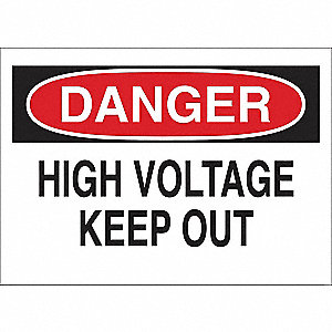 SIGN DANGER HIGH VOLT 7X10 PL