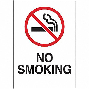 SIGN NO SMOKE W/SYMBOL 10X14 PL