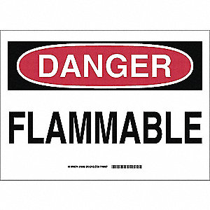 SIGN FLAMMABLE SS