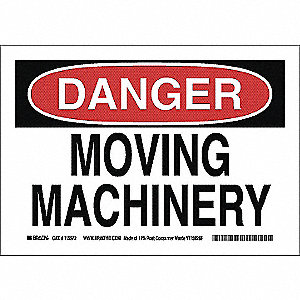 SIGN DANGER MACHINERY 7X10 PL