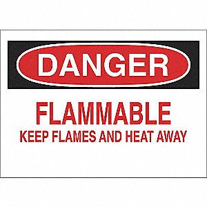 SIGN DANGER FLAMMABLE 10X14 PL
