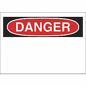 SIGN DANGER 10X14 PL