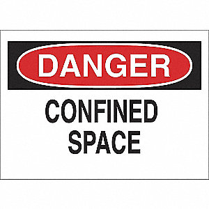 SIGN CONFINED SPACE 7X10 SS
