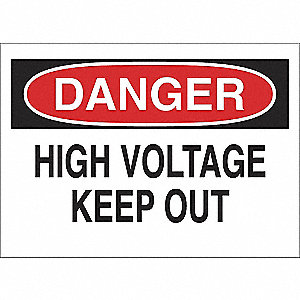SIGN HIGH VOLTAGE KEEP AWAY 7X10 SS