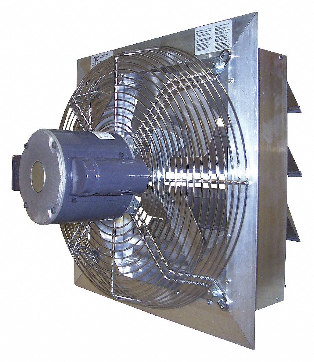 1 hp HP 42 in-Dia. 230V ACV Exhaust Fan, 45 in Square Opening Required