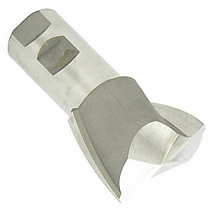 "Corner Rounding End Mill, 1/4"" Milling Dia., Number of Flutes: 4, 3"" Length of Cut, Bright, RC"