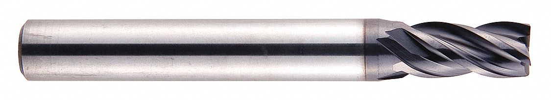 TiAlN Number of Flutes: 4 EMB37 EMB37032 1//2 Milling Dia 1 Length of Cut Yg-1 Tool Company End Mill