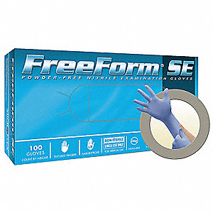 Disposable Gloves,Periwinkle Bl,PK100