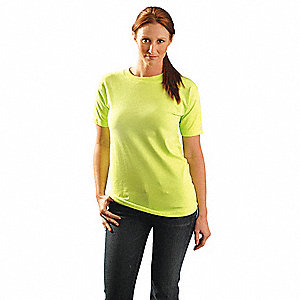 T-Shirt,L,Fit 44 in.,Lime,Cotton