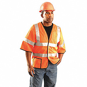 High Visibility Vest,4XL,Yellow,62 in.
