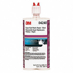 Urethane Adhesive, 200mL, Black, Work Life: 25 sec.