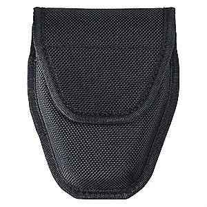Handcuff Pouch, Hook-and-Loop, Nylon, Black