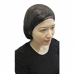 Hairnet,15in,Brown,Nylon,PK1000