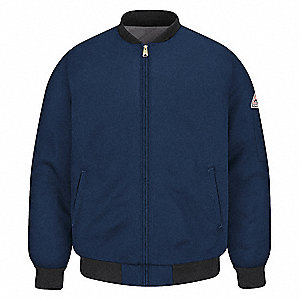 Flame-Resistant Jacket,Navy,XL,28inL