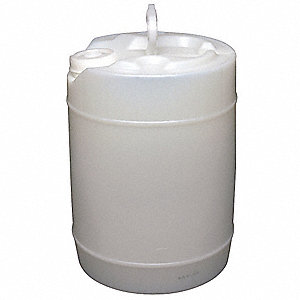 5.0 gal. Plastic Round Pail, Natural