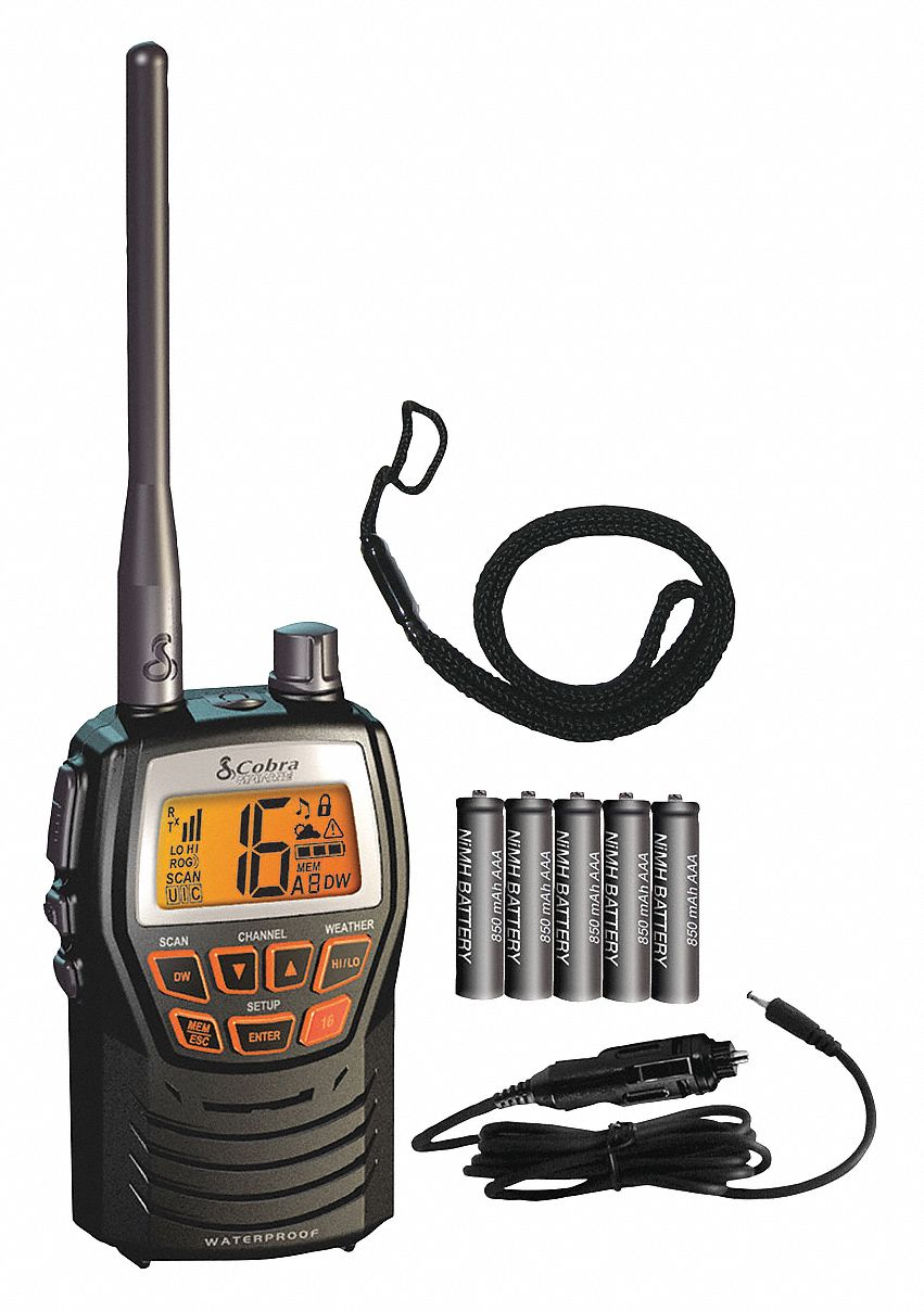 COBRA MR HH125 Series 10-Channel VHF Analog Marine Radio - 33UG21|MR HH125  - Grainger