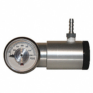 Gas Cylinder Regulator, Flow Rate 0.3 to 8.0Lpm