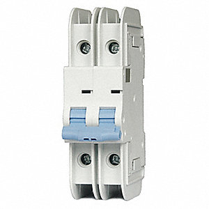 Miniature Circuit Breaker, 6 Amps, D Curve Type, Number of Poles: 2