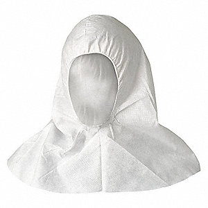 "SMS Disposable Hood, 18"" Length, White, Size: Universal, PK 100"