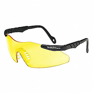 MAGNUM 3G Scratch-Resistant Safety Glasses, Yellow Lens Color
