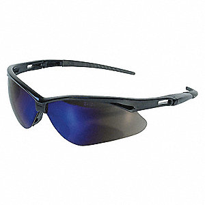 V30 NEMESIS Scratch-Resistant Safety Glasses, Blue Mirror Lens Color