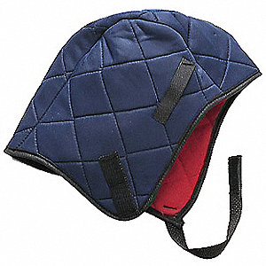 Winter Liner,  Universal,  Hook-and-Loop Adjustment Type,  Navy/Red,  Covers Head, Ears
