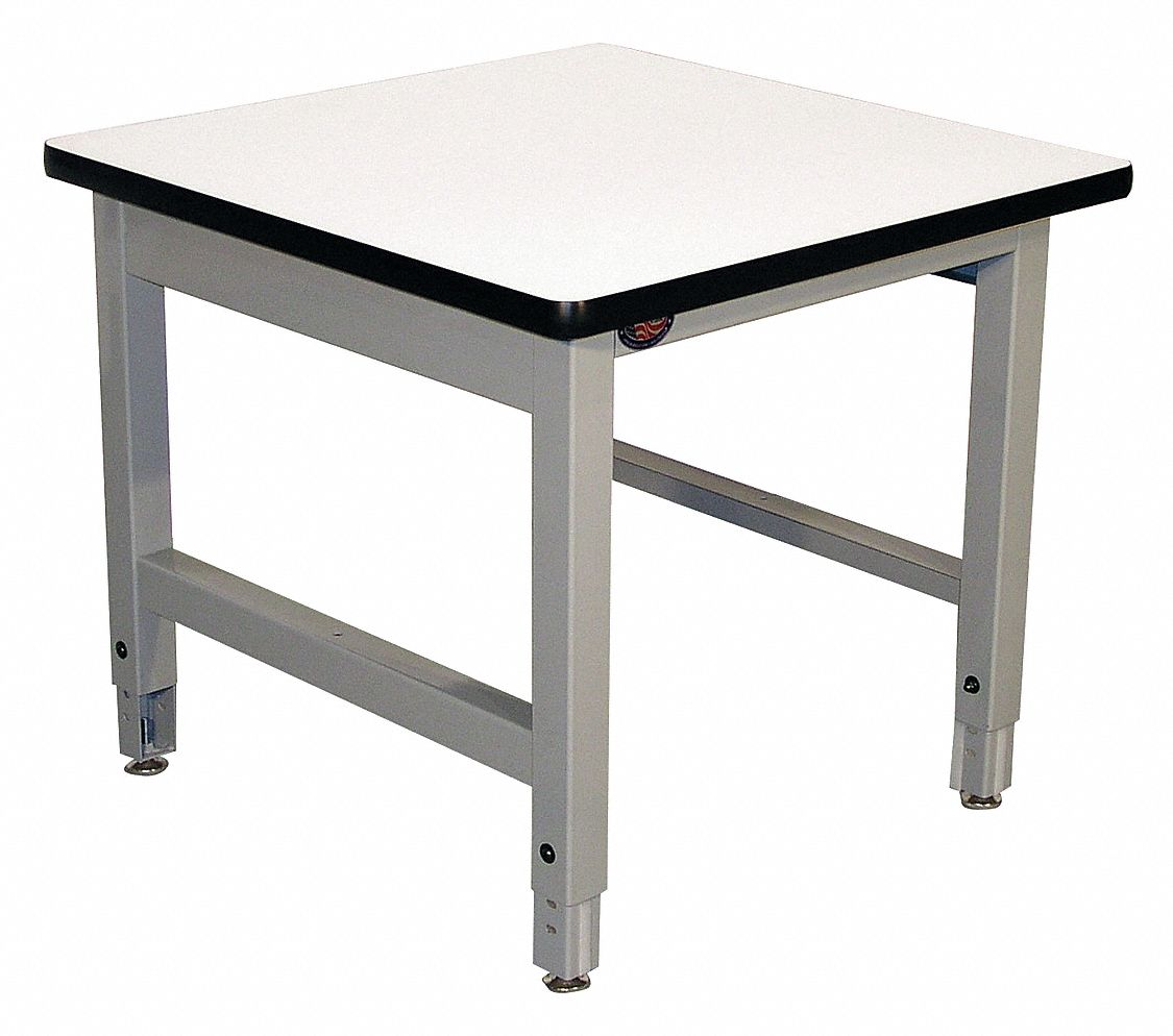 30 in x 30 in x 24 in Steel Balance Table with 1,000 lb Load Capacity, Gray