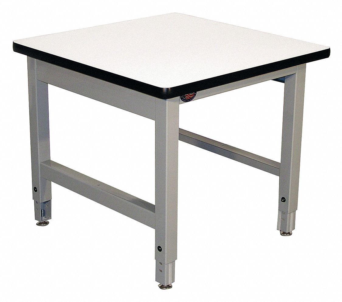 24 in x 24 in x 30 in Steel Balance Table with 1,000 lb Load Capacity, Gray