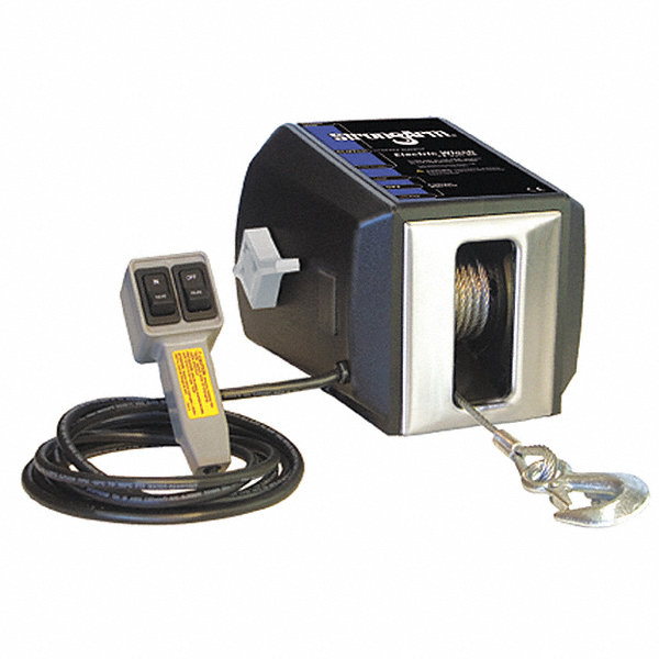 winch electric ac 115v pulling strongarm amazon grainger remote 2700 power lb