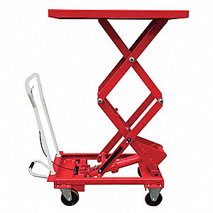"39-1/2''L x 20-1/2""W Fixed Steel Scissor Lift Cart, 660 lb. Load Capacity"