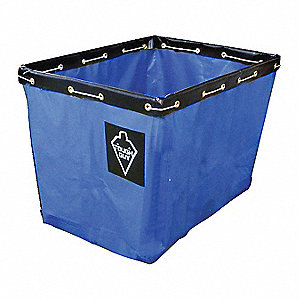 "Blue Vinyl Replacement Liner, For Use With 33W311, 33W323, 14.9 cu. ft., 36"" L X 26""W"