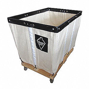 "White Canvas Basket Truck, 7.5 cu. ft., 600 lb., 30""L X 20""W X 27""H"