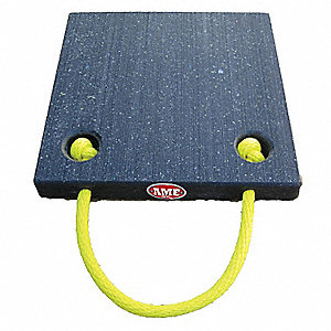Outrigger Pad,18 x 18 x 1 In.