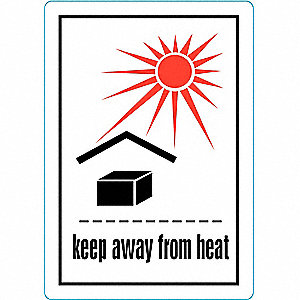 LABEL,KEEP AWAY FROM HEAT,500 LABEL