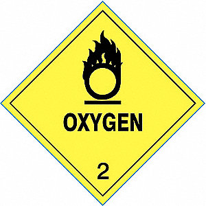 LABEL,OXYGEN,4 IN X 4 IN,25 LABELS